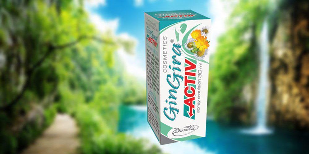 GinGira Activ в острата фаза на раздразнение и възпаление на кожата